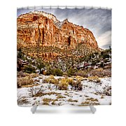Mountain In Winter Shower Curtain