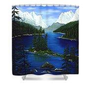 Mountain Lake Canada Shower Curtain