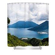 Mountain Lakes In Guatemala Shower Curtain