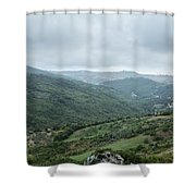 Mountain Landscape Of Italy Shower Curtain