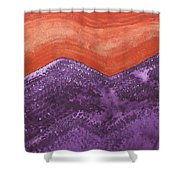 Mountain Majesty Original Painting Shower Curtain