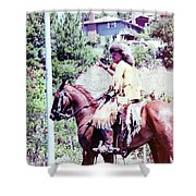 Mountain Man On A Horse Shower Curtain