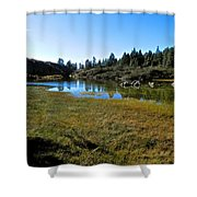 Mountain Marshes 1 Shower Curtain