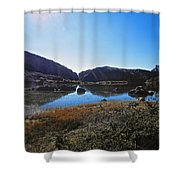 Mountain Marshes 4 Shower Curtain