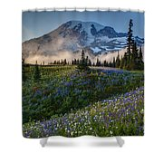 Mountain Meadow Serenity Shower Curtain