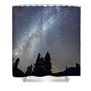 Mountain Milky Way Stary Night View Shower Curtain