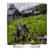 Mountain Mists At Le Conte Shower Curtain