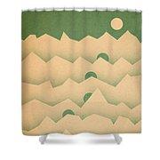 Mountain Moon Rising Shower Curtain