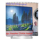 Mountain Moonglow Mural Shower Curtain