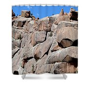 Mountain Of Boulders Shower Curtain
