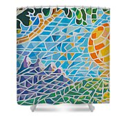 Mountain Of God Shower Curtain