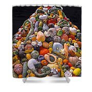 Mountain Of Gourds And Pumpkins Shower Curtain