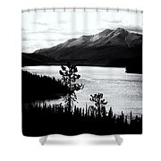 Mountain Outline Shower Curtain