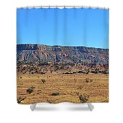 Mountain Over The Plains Shower Curtain
