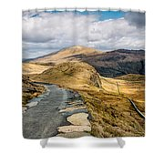 Mountain Path Shower Curtain
