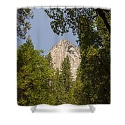 Mountain Peak In Yosemite National Park Shower Curtain