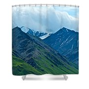 Mountain Peaks From Eielson Visitor's Center In Denali Np-ak Shower Curtain
