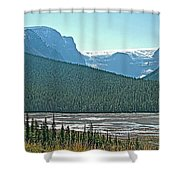 Mountain Peaks From Icefields Parkway-alberta Shower Curtain