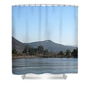 Mountain Pines And Sea Shore Shower Curtain