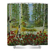 Mountain Poppies Shower Curtain