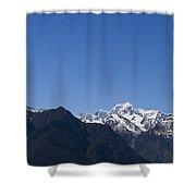 Mountain Profile Shower Curtain
