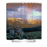 Mountain Rainbow Shower Curtain