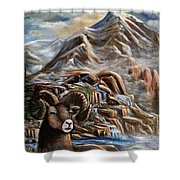 Mountain Ram Shower Curtain
