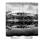 Mountain Reflection Shower Curtain by Dave Bowman