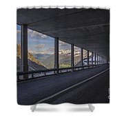 Mountain Road And Tunnel Shower Curtain