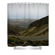 Mountain Road Crete Shower Curtain by Lainie Wrightson