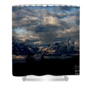Mountain Silhouette Shower Curtain