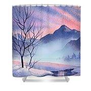 Mountain Silhouette Shower Curtain
