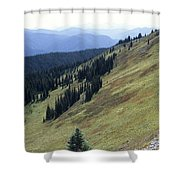 Mountain Slope Shower Curtain