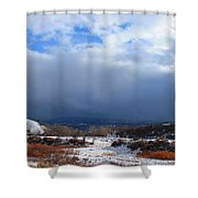 Mountain Snow Coming  Shower Curtain