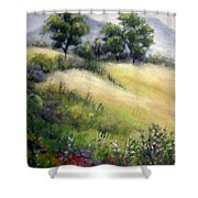 Mountain Spring I Shower Curtain