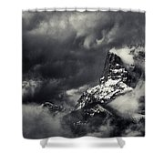 Mountain Storm Banff Shower Curtain