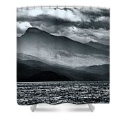 Mountain Storm Clouds Shower Curtain