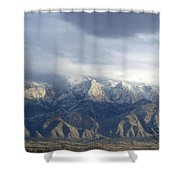 Mountain Storm Shower Curtain