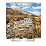 Mountain Stream From Beinn Eighe Shower Curtain