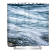 Mountain Stream In Motion E101 Shower Curtain
