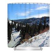 Mountain Sun Shower Curtain