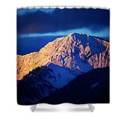Lizard Range Mountain Sunrise Shower Curtain