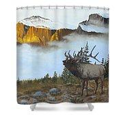 Mountain Sunrise Echoes Shower Curtain