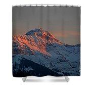 Mountain Sunset In Switzerland Shower Curtain