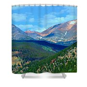 Mountain Top Color Shower Curtain