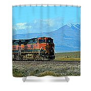 On Mountain Time Shower Curtain