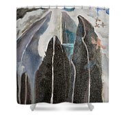 Mountain Trees Shower Curtain