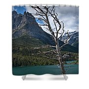 Mountain View At Glacier National Park Shower Curtain