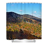 Mountain View From Linn Cove Viaduct Shower Curtain