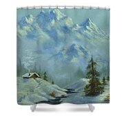 Mountain View With Creek Shower Curtain